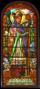 Detail levého okna za hlavním oltářem