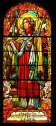 Detail pravého okna za hlavním oltářem