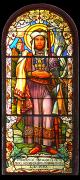 Detail prostředního okna za hlavním oltářem (sv. Václav)
