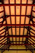 Celkový pohled na konstrukci stropního trámoví