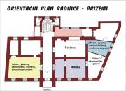 Plán přízemí radnice