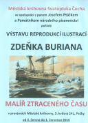 Výstava reprodukcí ilustrací Zdeňka Buriana